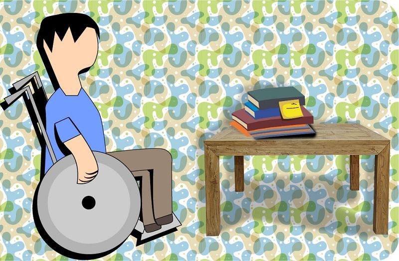 Silla de Ruedas - Discapacidad Ilustración